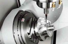 Five-axis milling machining of turbine impeller
